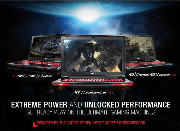 MSI Skylake Powered Notebooks Are Here