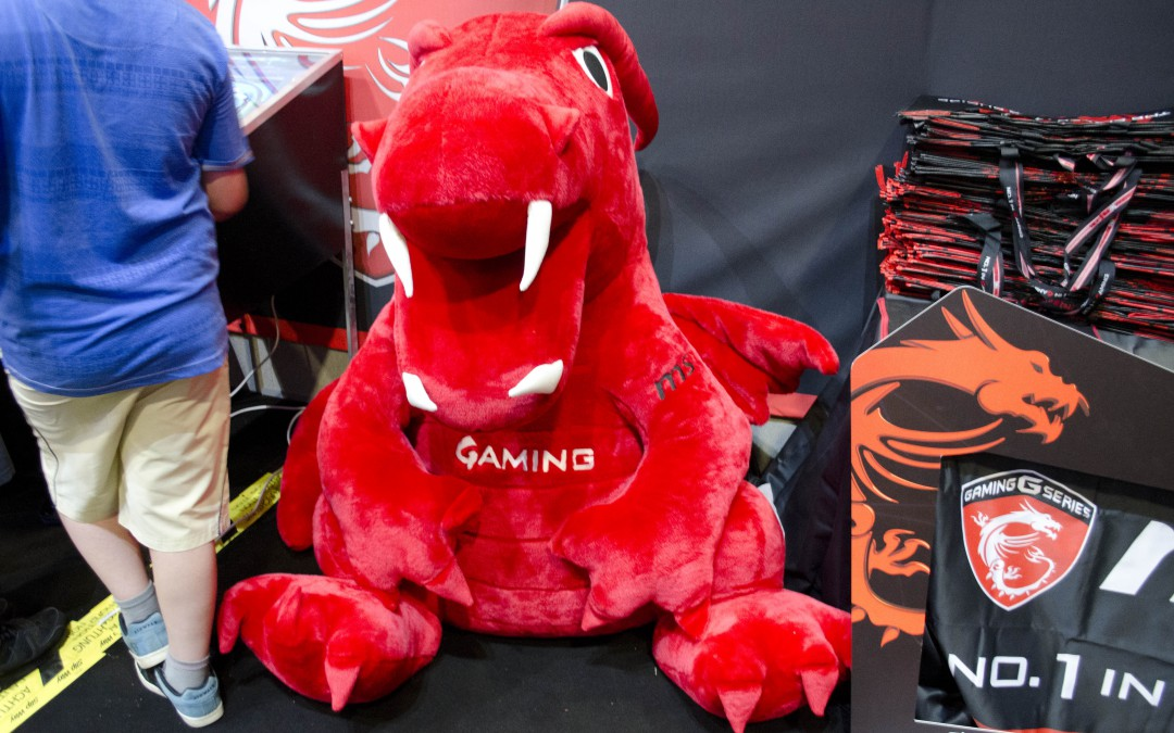 The MSI Booth at Multiplay I55