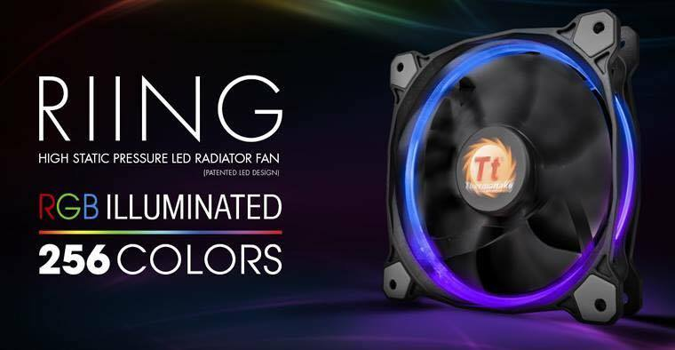 Thermaltake Riing 12 LED RGB 256 Colors  High Static Pressure Radiator Fan