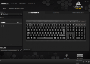 Corsair Gaming K70 RGB Mechanical Gaming Keyboard CUE Software