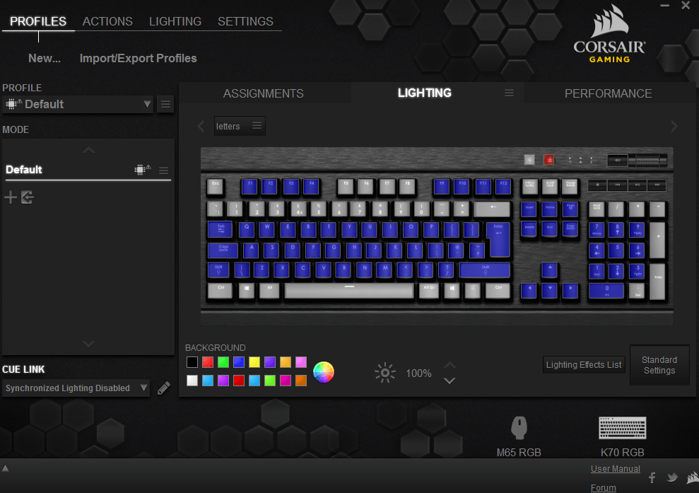 Corsair Gaming K70 RGB Mechanical Gaming Keyboard CUE Software4