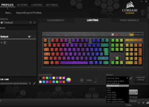 Corsair Gaming K70 RGB Mechanical Gaming Keyboard CUE Software5