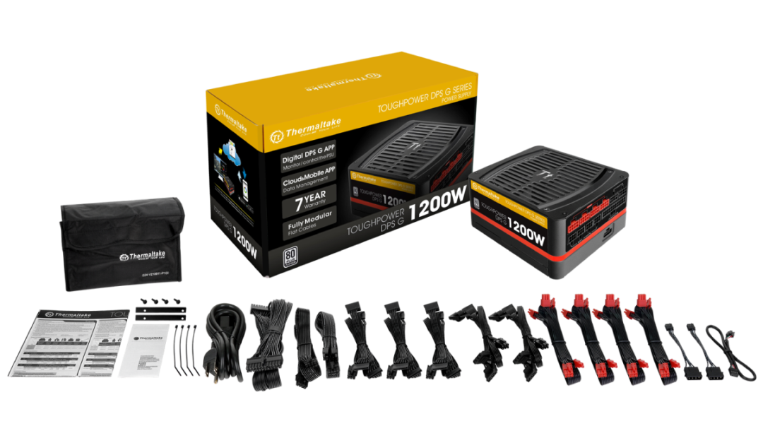 Thermaltake Toughpower DPS G Platinum 1200W-Packaging & Parts