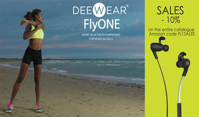 Deewear is having a 10% off sale on their FlyONE Sport Bluetooth Headpohones