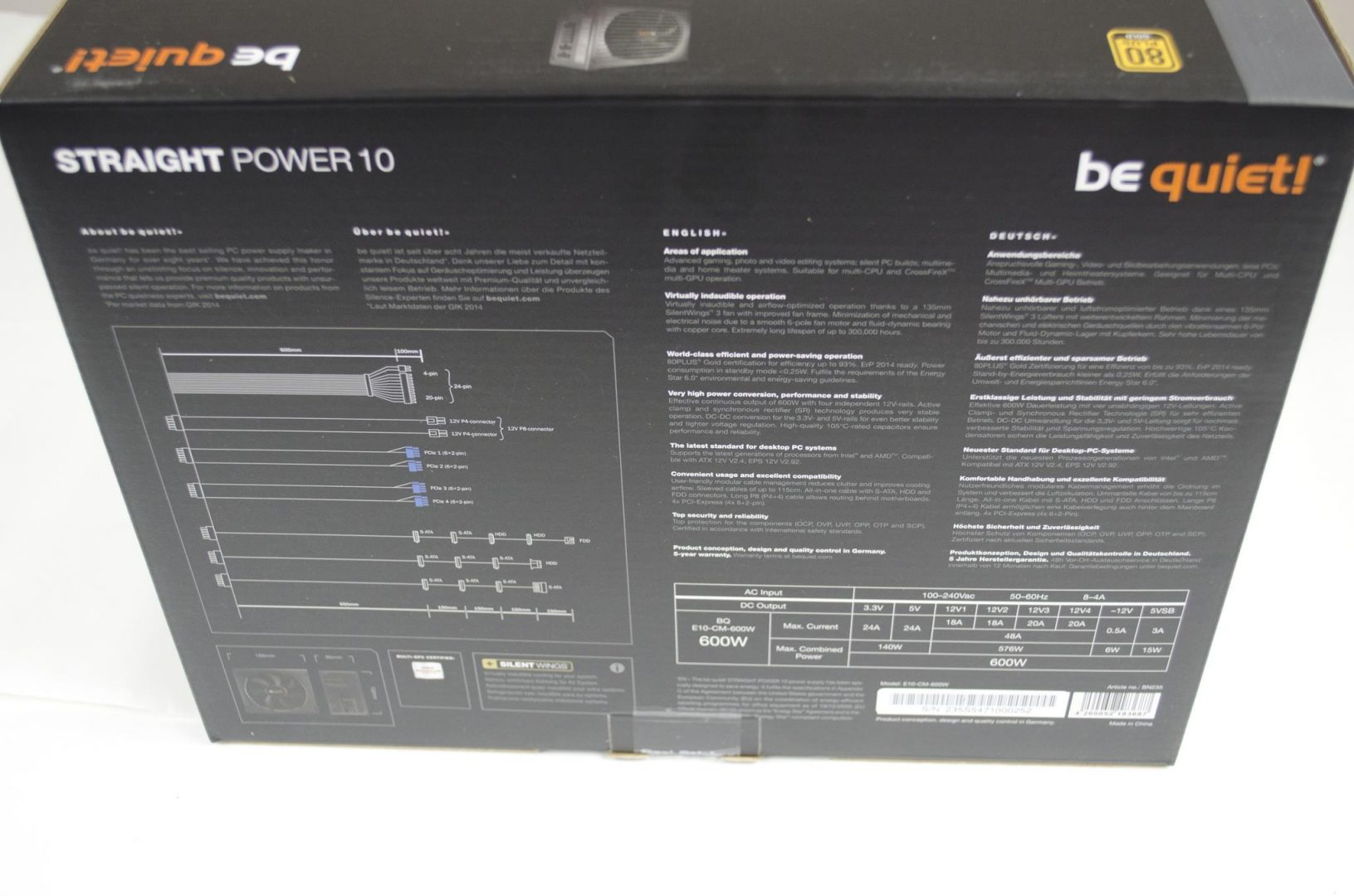 be quiet! Straight Power 10 600W Power Supply_1