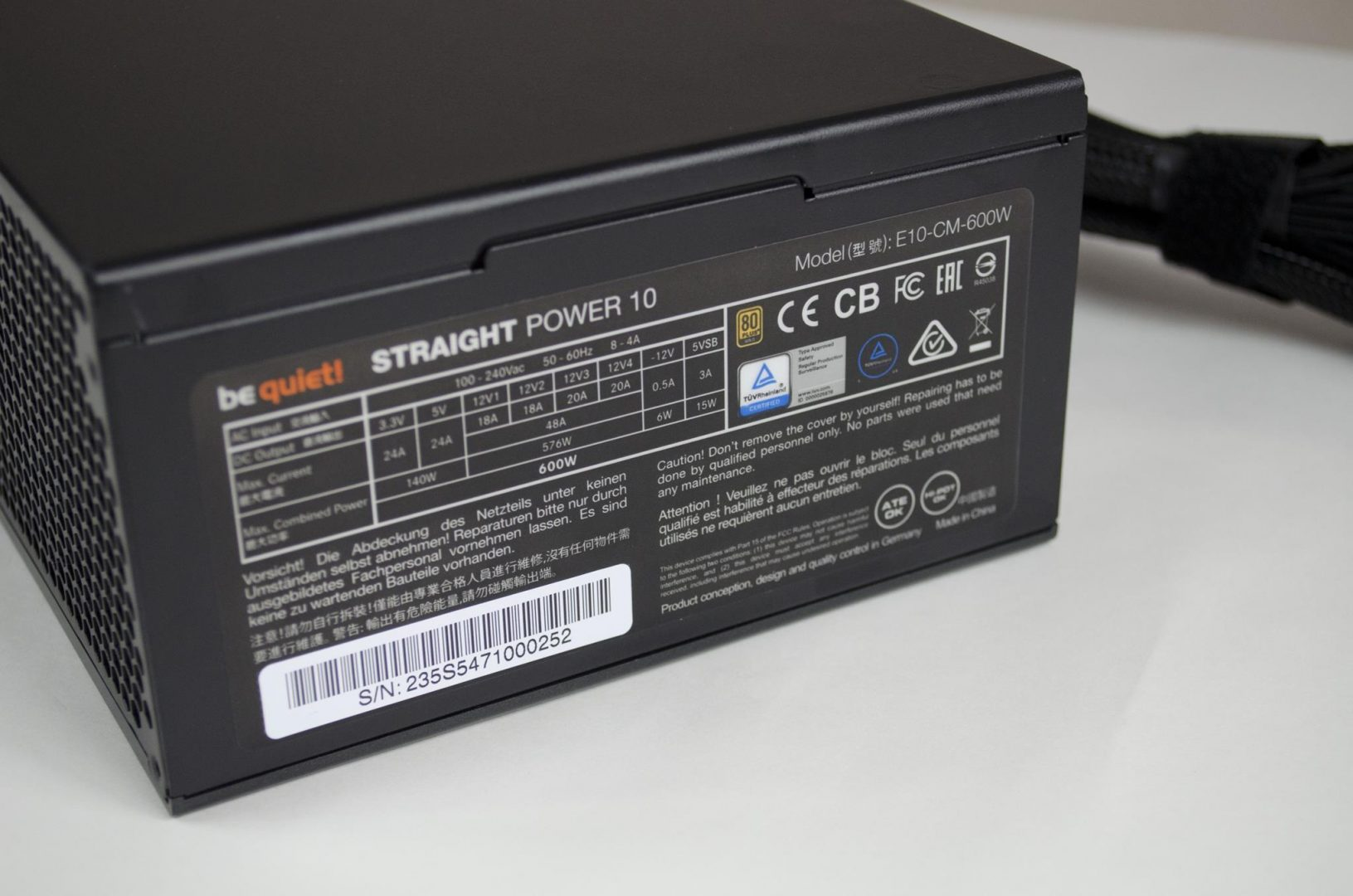 be quiet! Straight Power 10 600W Power Supply_9