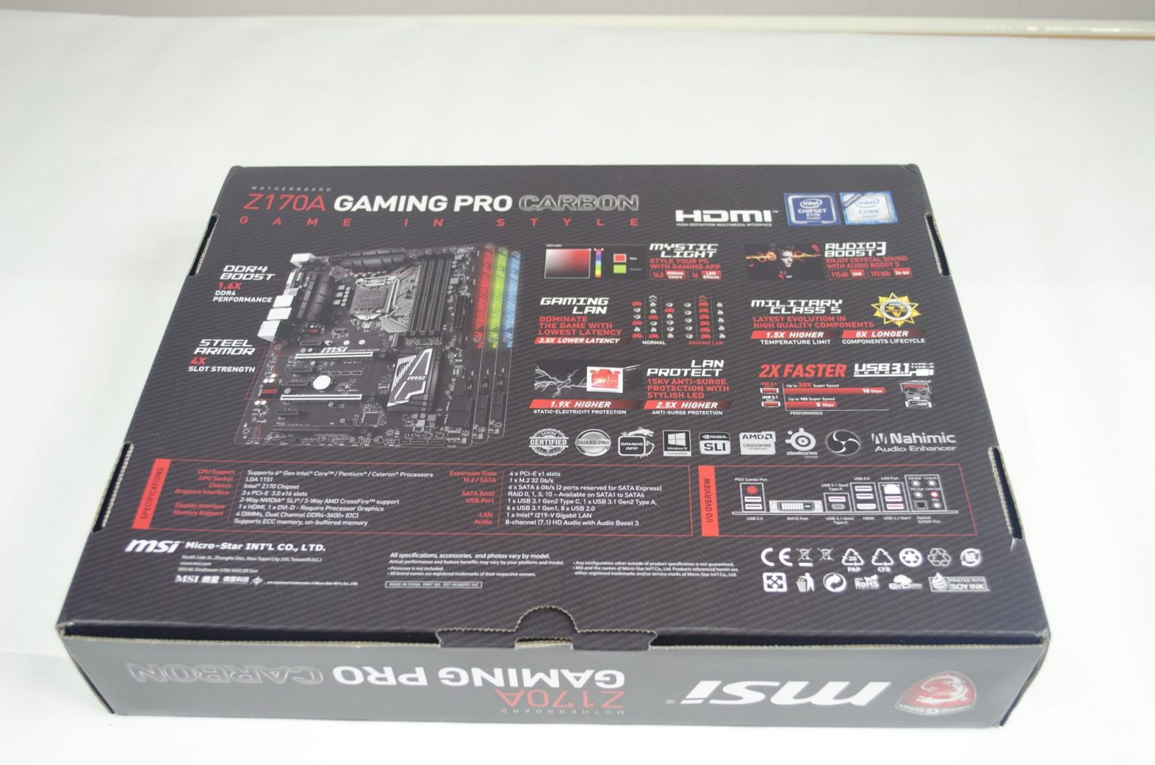 MSI Z170A Gaming Pro Carbon Motherboard Review_3