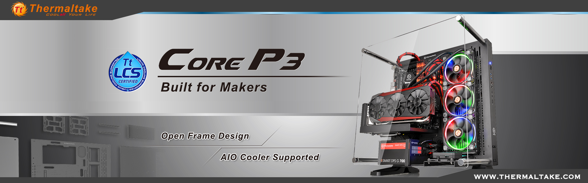 Thermaltake New Core P3 ATX Wall Mount Panoramic Viewing Chassis