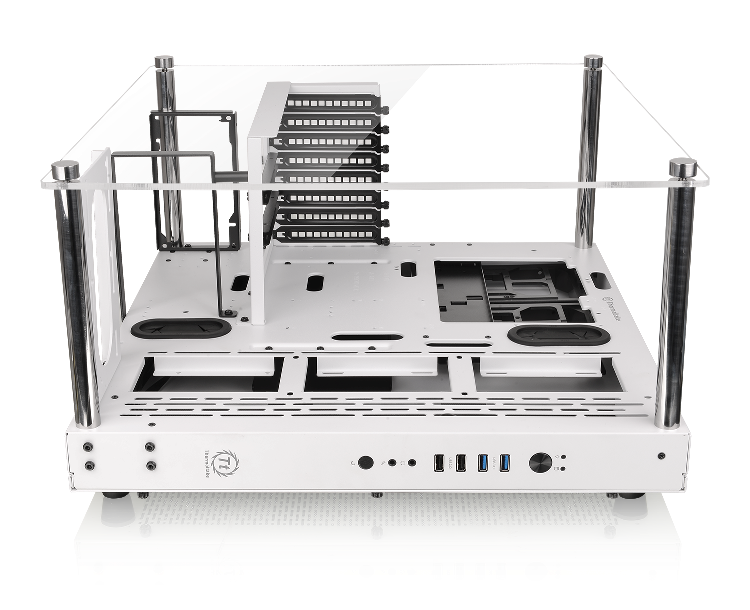 Thermaltake Core P3 Snow Edition ATX Wall-Mount Chassis-3 Way Placement Layout