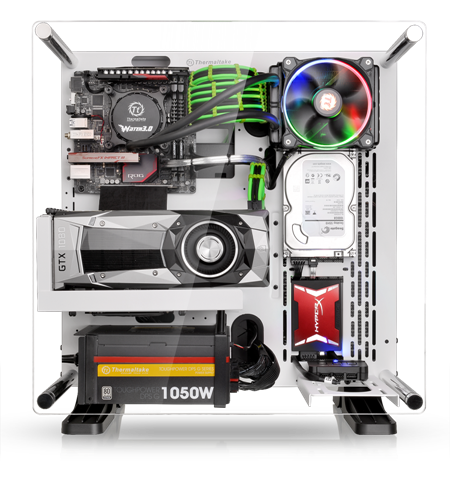 Wall Mounted Water Cooler Thermaltake Core P3 ATX Chassis - Snow White and Black ...