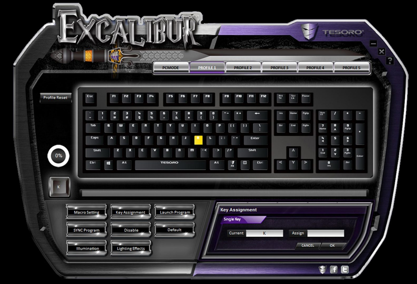 tesoro excalibur spectrum software 2
