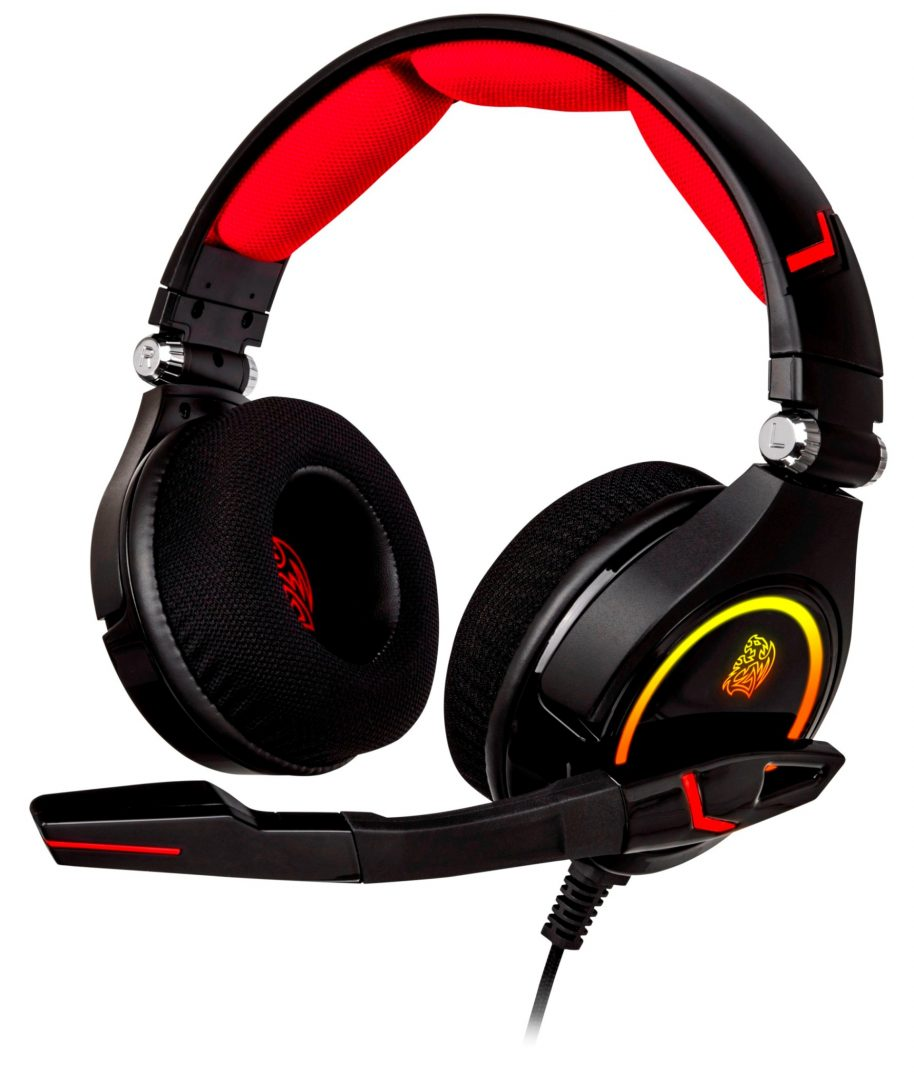 Tt eSPORTS CRONOS RGB 7.1 Gaming Headset 3-sectioned headband construction made with LYCRAR fabric