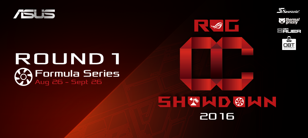 ASUS ROG Announces 2016 OC Showdown and RealBench Challenge