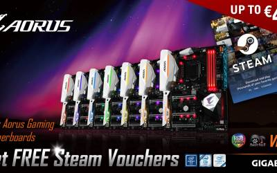 "GIGABYTE Announces ""Buy AORUS Gaming Motherboards  and get FREE Steam vouchers"" Promotion"