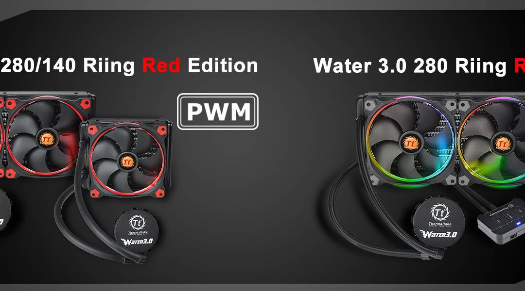 Thermaltake Extends the Liquid Cooler to Water 3.0 Riing RGB 280 and Water 3.0 Riing Red 280&140 at CES2017