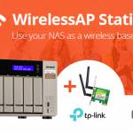 Use your QNAP NAS as a Wireless Base Station with the new WirelessAP Station