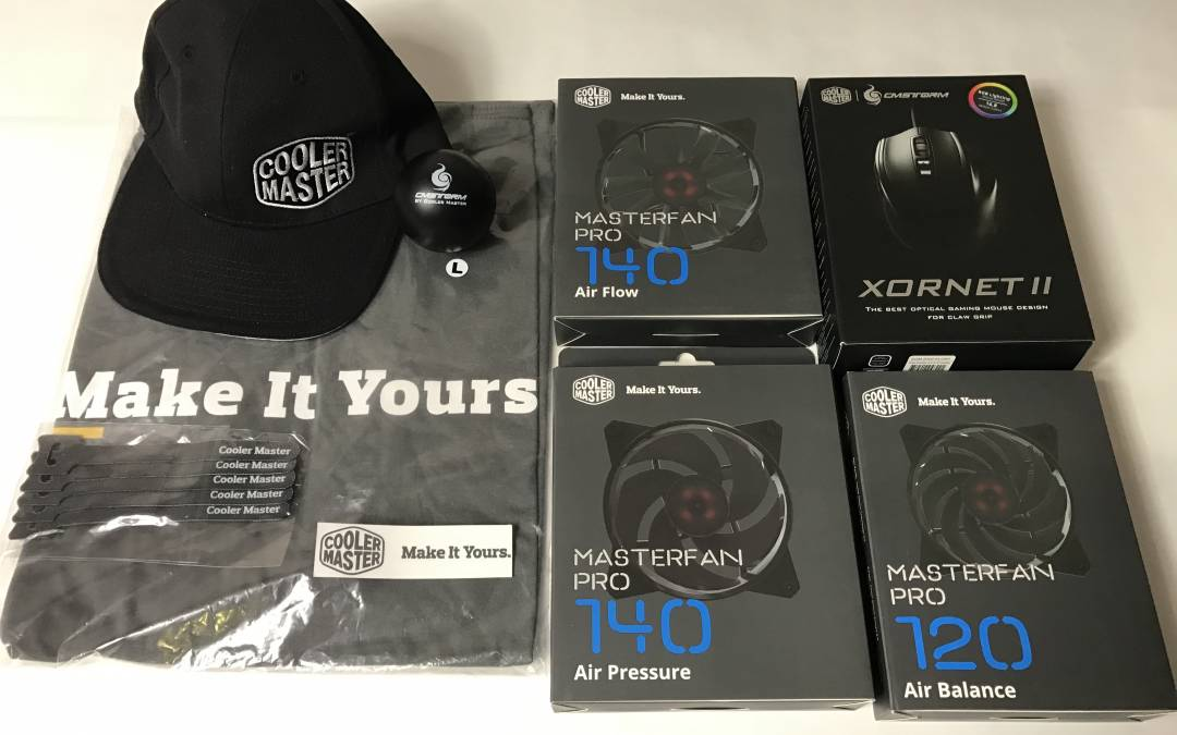Cooler Master Swag Pack Giveaway – Fans, Shirt, Hat, Mouse and More!