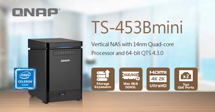 QNAP Announces the TS-453Bmini Vertical NAS