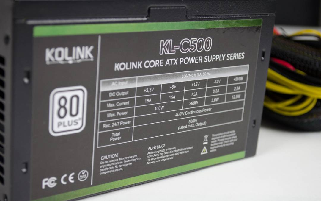 Kolink Core Series 500W PSU Overview