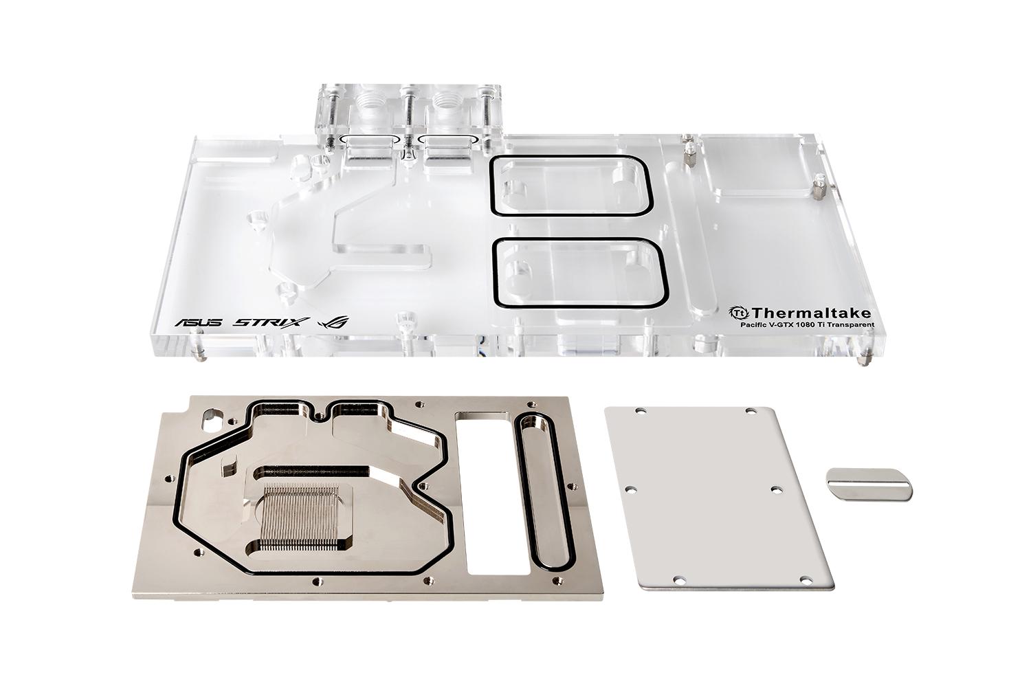 Thermaltake Pacific V-GTX 1080Ti Transparent Water Block (For ASUS ROG)_Unique Micro-Channel Structure
