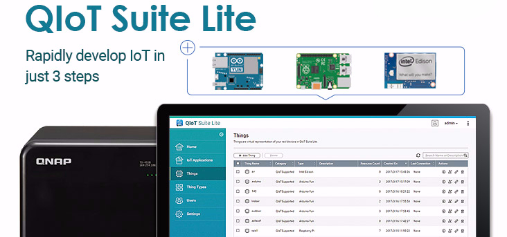 QNAP Releases QIoT Suite Lite (Beta) – QNAP's Private IoT Cloud Solution