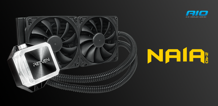 Reeven Announces NAIA 240 AIO CPU Cooler