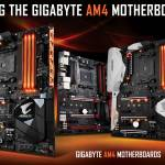 GIGABYTE's AM4 Motherboards – a Perfect Match  for the AMD Ryzen™ 3 Processors