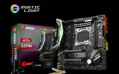 MSI LAUNCHES WORLD'S FASTEST X299 MICROATX MOTHERBOARD