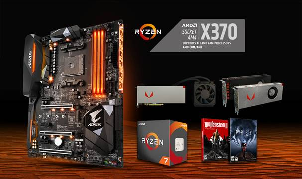 GIGABYTE's AX370-Gaming K7 motherboards featured with the Radeon™ RX Vega64 Bundle