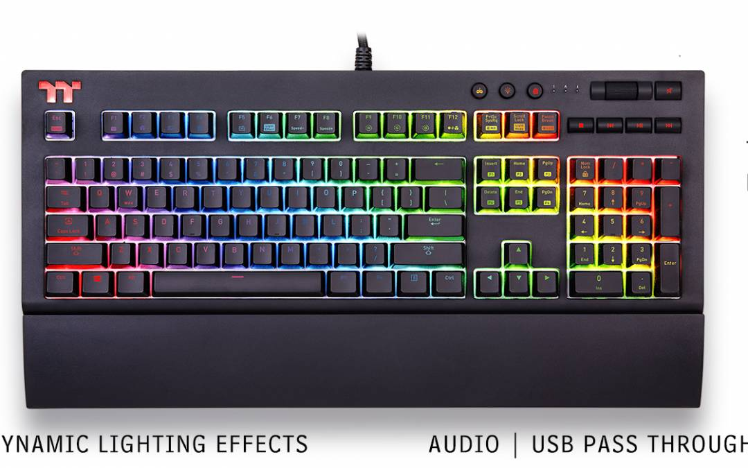 Thermaltake Announces X1 RGB Cherry MX Mechanical Gaming Keyboard at CES 2018