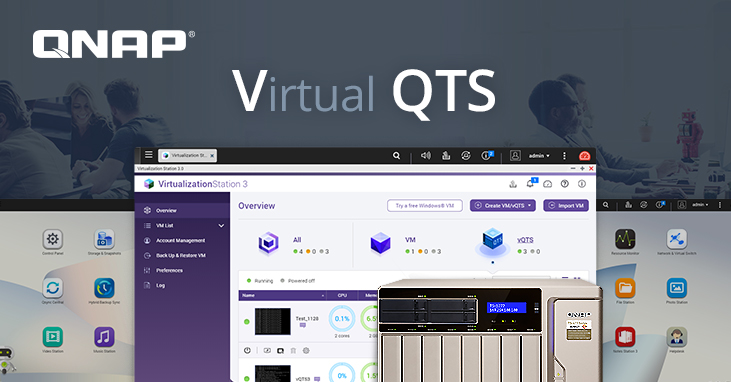 QNAP Introduces vQTS: Initially Available for TS-x77 Ryzen™ NAS to Run Multiple Virtual QTS Systems QI