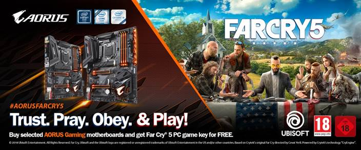 GET Far Cry® 5 WITH AORUS GAMING MOTHERBOARDS