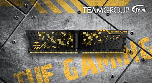 TEAMGROUP Officially Announces the T-FORCE VULCAN TUF Gaming Alliance DDR4