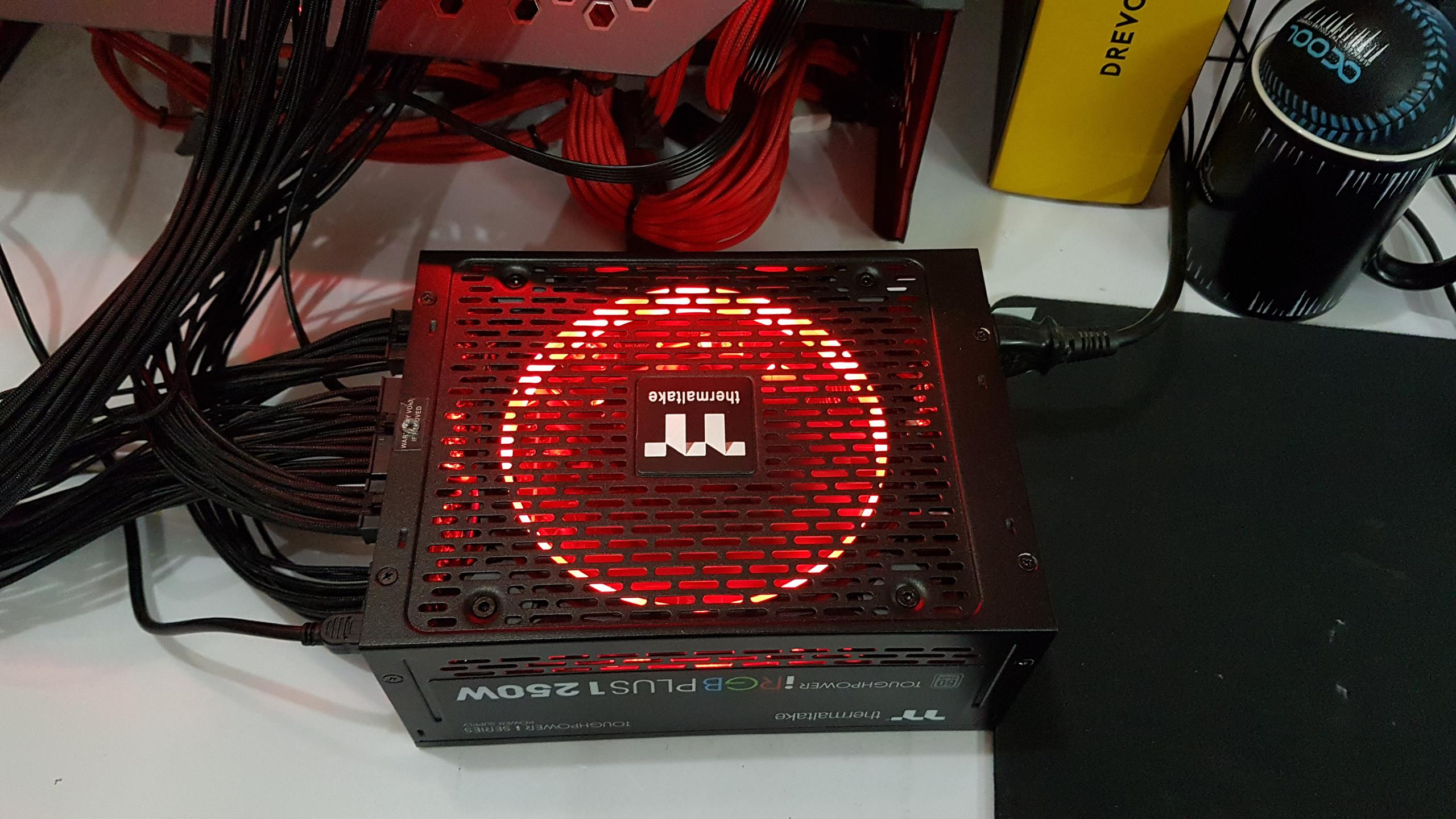 Thermaltake has designed the chassis of the unit in such a way that user gets to experience the RGB LED lighting not only from the top cover as it is ...