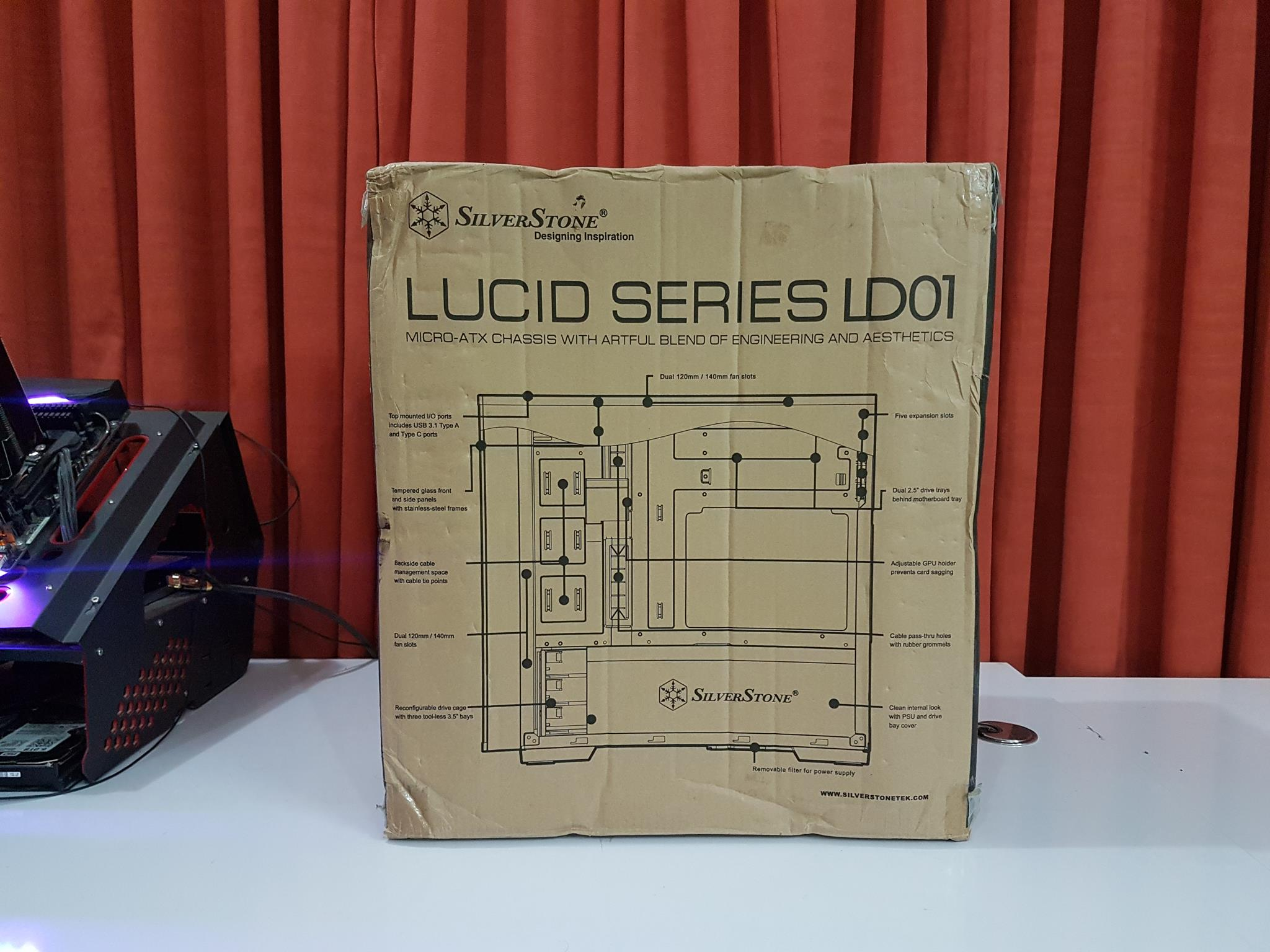 Silverstone Tek Lucid Series Ld01 Microatx Chassis Review Old Engineering Schematics There Is A Block Diagram Of The Printed All Over With Labels Highlighting Corresponding Feature