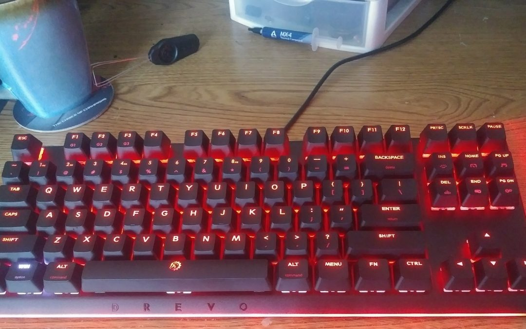 DREVO Blademaster TE 87-Key Mechanical RGB Keyboard with Genius-Knob