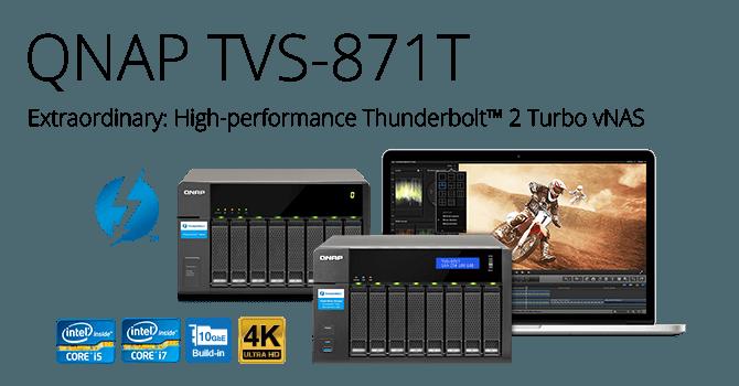 QNAP Launches Thunderbolt NAS TVS-871T
