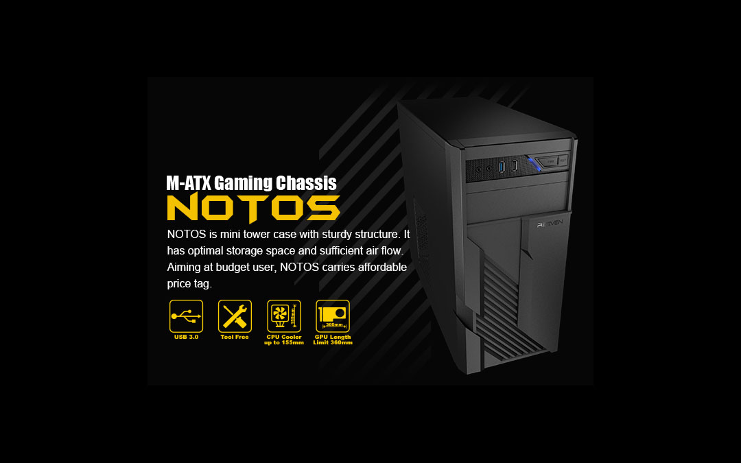Reeven Steps Into the Case Scene with NOTOS M-ATX PC Case