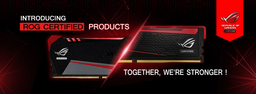 AVEXIR Introduces ASUS ROG Certified DDR4 RAM Modules