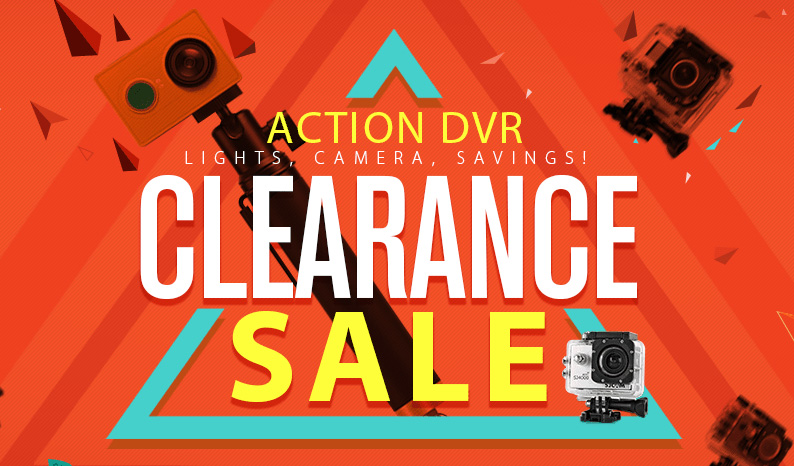 GEARBEST Lights, Camera, Savings Action Cam Clearance Sale