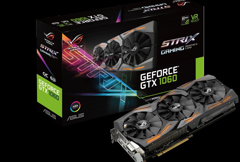 ASUS Republic of Gamers Announces Strix GeForce GTX 1060