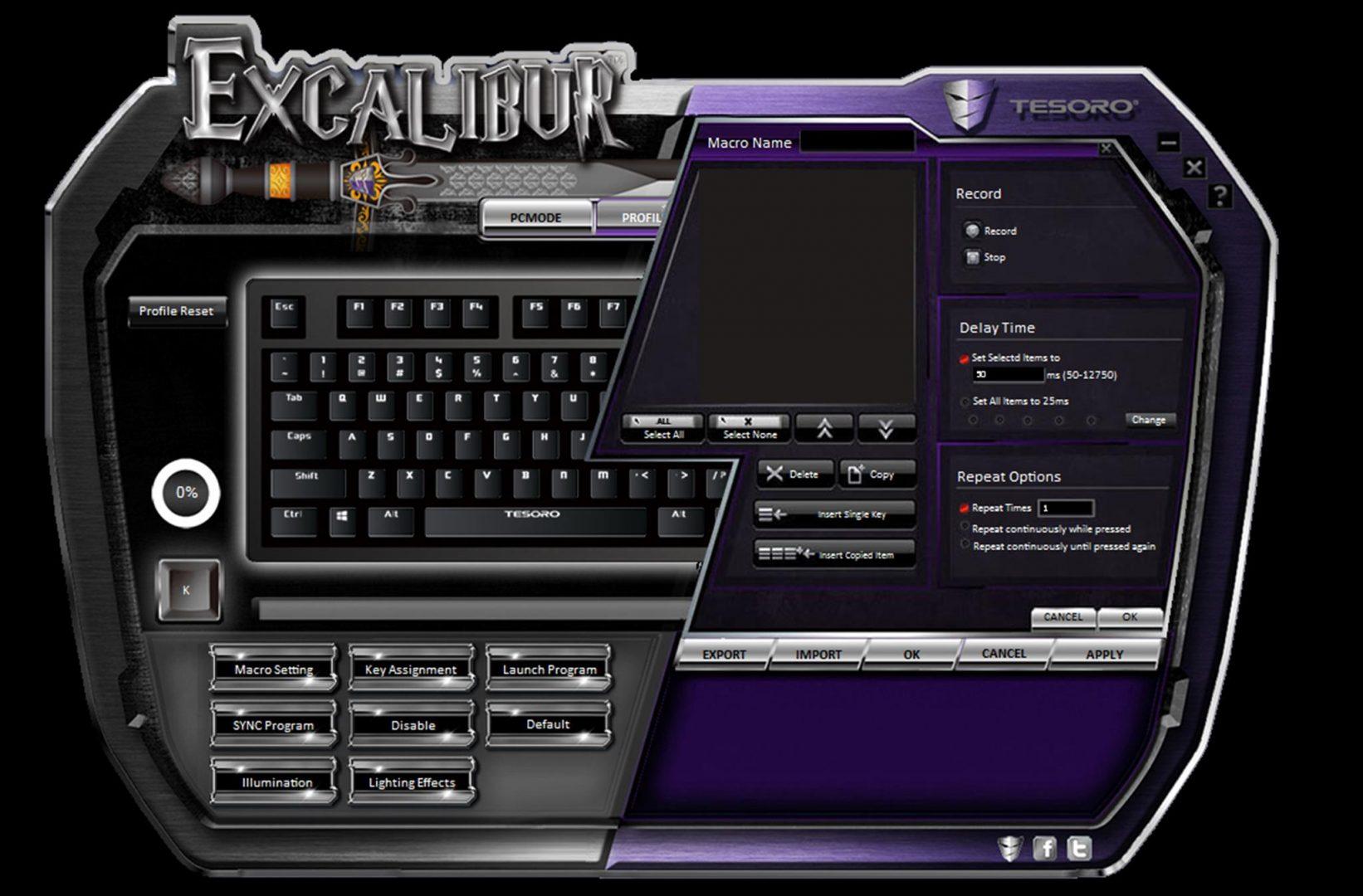tesoro excalibur spectrum software 1
