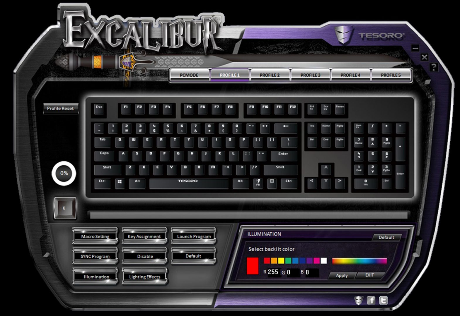 tesoro excalibur spectrum software 3