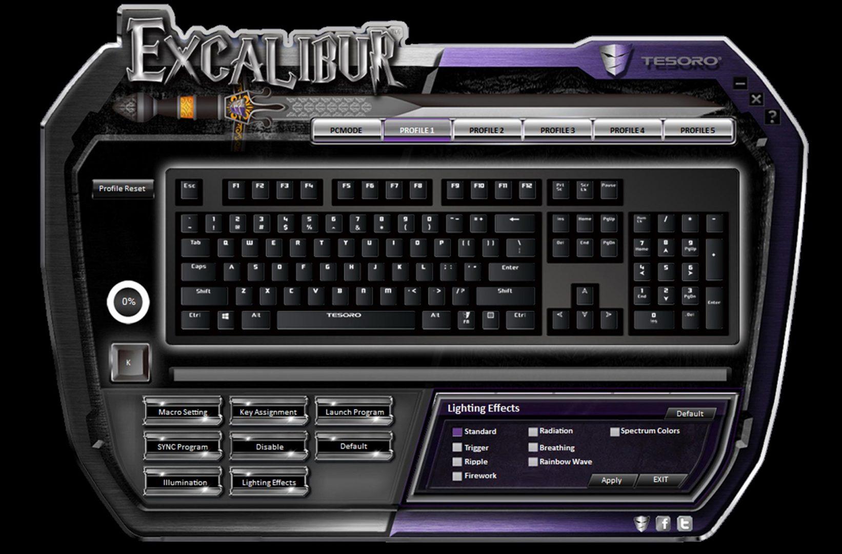 tesoro excalibur spectrum software 4
