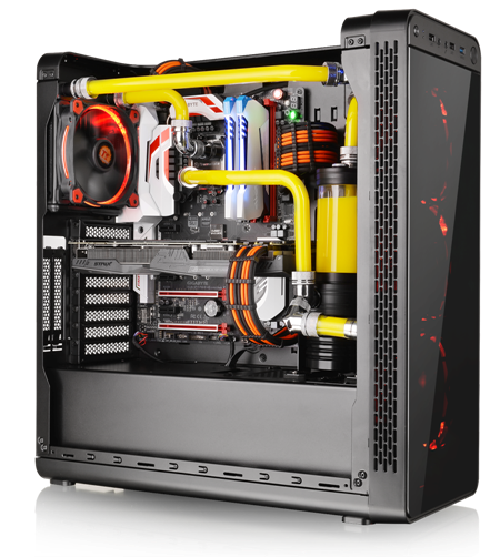 Thermaltake View 27 supports motherboards up to standard ATX, a tower CPU cooler with maximum height 155mm