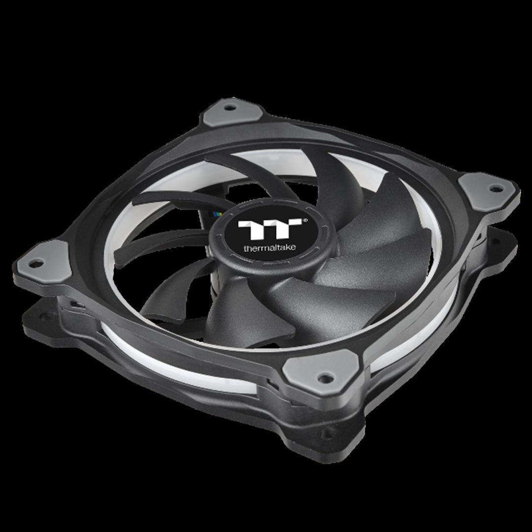 Thermaltake New Riing Plus 12 LED RGB Radiator Fan-Nine Fan Blade Design