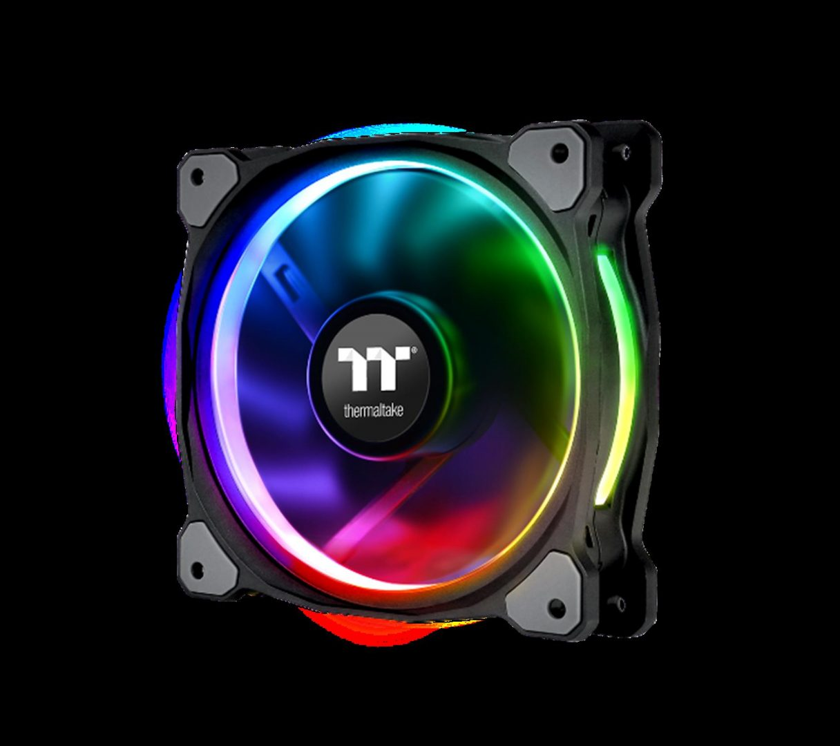 Thermaltake New Riing Plus 12 LED RGB Radiator Fan-Patented LED Design