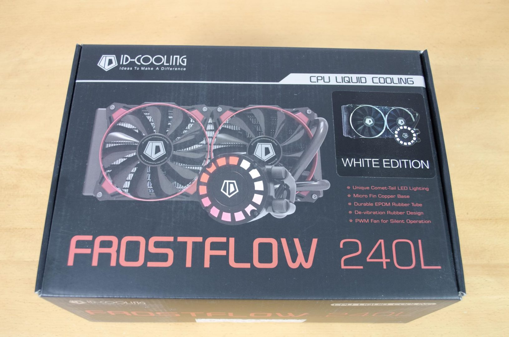 id cooling frostflow 240l aio cpu cooler review
