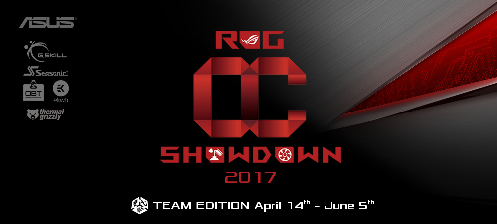 ASUS Republic of Gamers Announces OC Showdown 2017 Team Edition