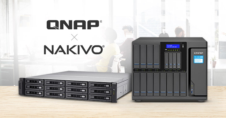QNAP and NAKIVO Jointly Provide an All-in-one Backup Solution for VM Backup